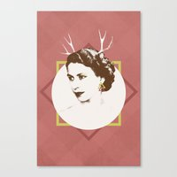 Elizabeth II : The Bold Canvas Print