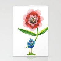 Red Wonder Flower Stationery Cards