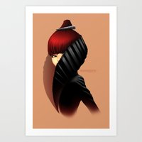 Fashion Profile Art Print