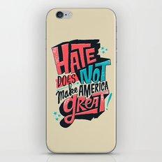 Hate Does Not Make Ameri… iPhone & iPod Skin