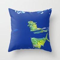 Throw Pillow featuring Mahi Mahi by Devin Sullivan