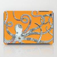 Orange Octopus iPad Case