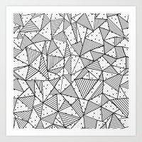 Abstract Spots Art Print