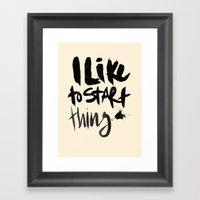 Start Framed Art Print