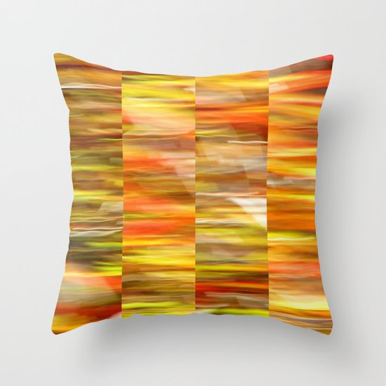 Saffron - Polyptych Throw Pillow
