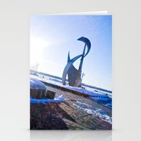 Shadows in the sun ray. Stationery Cards