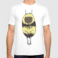 Bee Girl Mens Fitted Tee White SMALL
