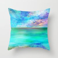 Ocean At Sunrise Throw Pillow