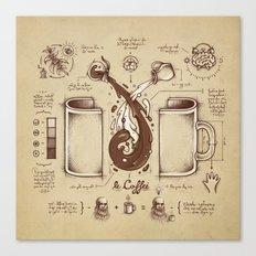 Le Coffee (Fluid of Creativity) Canvas Print