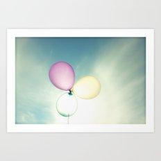 Balloons in the Sun Art Print