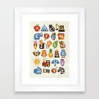 Alphabet Framed Art Print