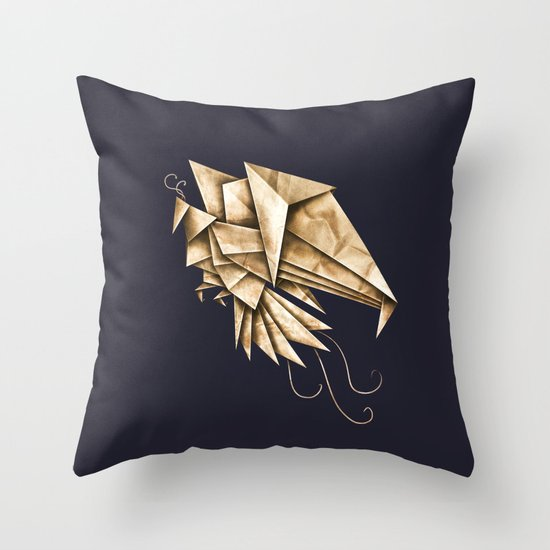 Phoenixgami Throw Pillow
