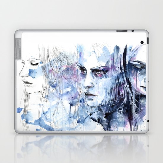 waves - to and fro Laptop & iPad Skin