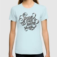 Simmer Down Womens Fitted Tee Light Blue SMALL