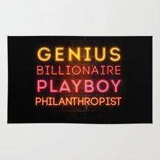 Iron Man: Genius Billionaire Playboy Philanthropist Rug