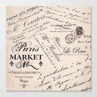 Paris Market 2 Canvas Print