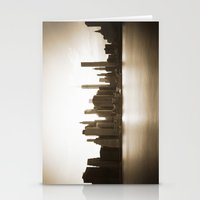 Lower Manhattan at Sunset Stationery Cards