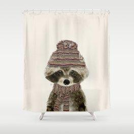 Shower Curtain - little indy raccoon - bri.buckley
