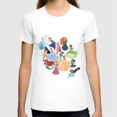 Forever Princess Womens Fitted Tee White SMALL