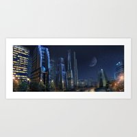 City Night Art Print