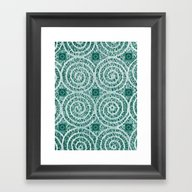 LACY CURLS With CUBES | … Framed Art Print