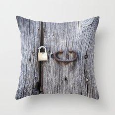 Hidden Door Throw Pillow