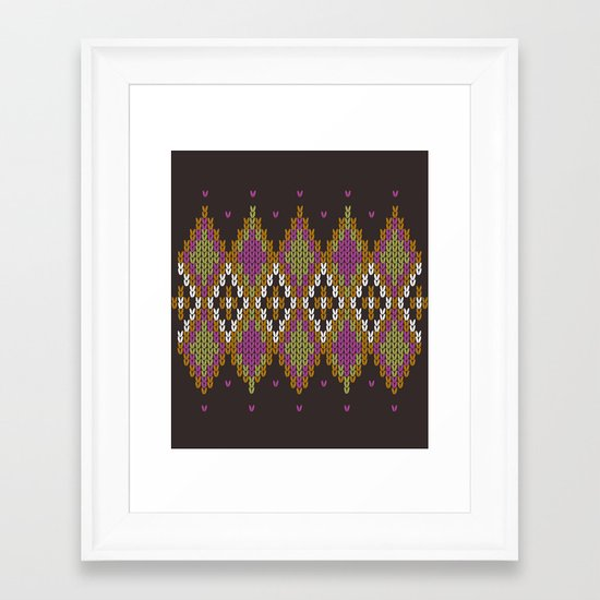 Argyle Dream Framed Art Print
