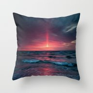 Throw Pillow featuring Beach Painting by Evan Smith