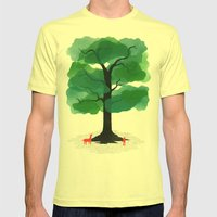 Man & Nature - The Tree of Life Mens Fitted Tee Lemon SMALL