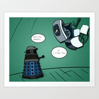 When their powers combine... Art Print
