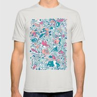 Bubble Mens Fitted Tee Silver SMALL