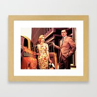 Betty & Don Draper from Mad Men - Painting Style Framed Art Print
