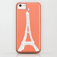 iPhone 5c Cases featuring Eiffel Tower by Blossom Tree Designs