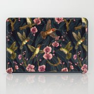 Hummingbird Pattern iPad Case