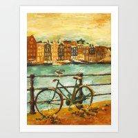 Going Dutch (yellow) Art Print