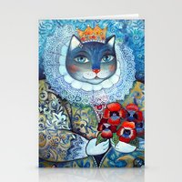 Qween Cat - Tudor Cat Stationery Cards