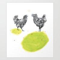 Chatting Art Print