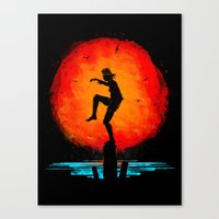 Minimalist Karate Kid Tr… Canvas Print