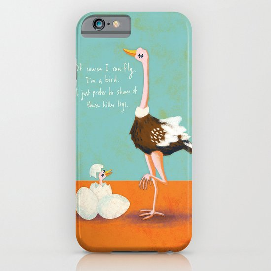 Confident Ostrich iPhone & iPod Case