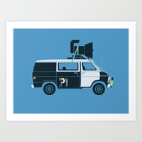 The Blues Brothers' Van Art Print