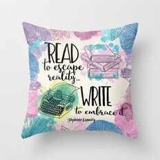 Write to Embrace design Throw Pillow