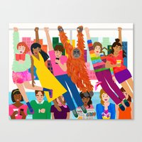 Straphangers Canvas Print