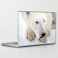 polar bear Laptop & iPad Skins featuring Polar Bear by MVision Photography