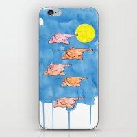 Flying Elephants iPhone & iPod Skin