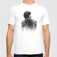 Alan Mens Fitted Tee White SMALL