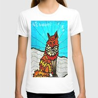 THE FOX Womens Fitted Tee White SMALL