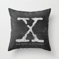 X-Files Poster Throw Pillow