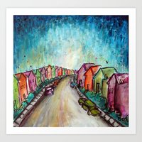 The Street Near My Stree… Art Print
