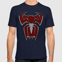 Bat-Spiderman Mens Fitted Tee Navy SMALL