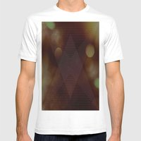 Bokeh Triangle Mens Fitted Tee White SMALL